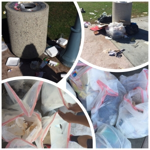 Nearly 200 pounds of trash was collected after the Halloween Festival at the library.
