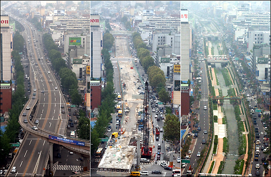 Cheongyecheon Before and After