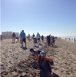 Team Marine hits the beach with thousands of other volunteers on Coastal Cleanup Day