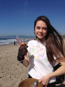 Hannah Persinko is tired of finding littered straws!