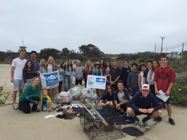 ACE Recycle Club and their eco warriors at Leo Carrillo Beach