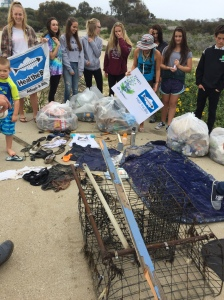 52 pounds of recyclables and 74 pounds of trash