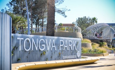 Tongva Park on Ocean Ave in Santa Monica. Photo: Fruscoe Engineering