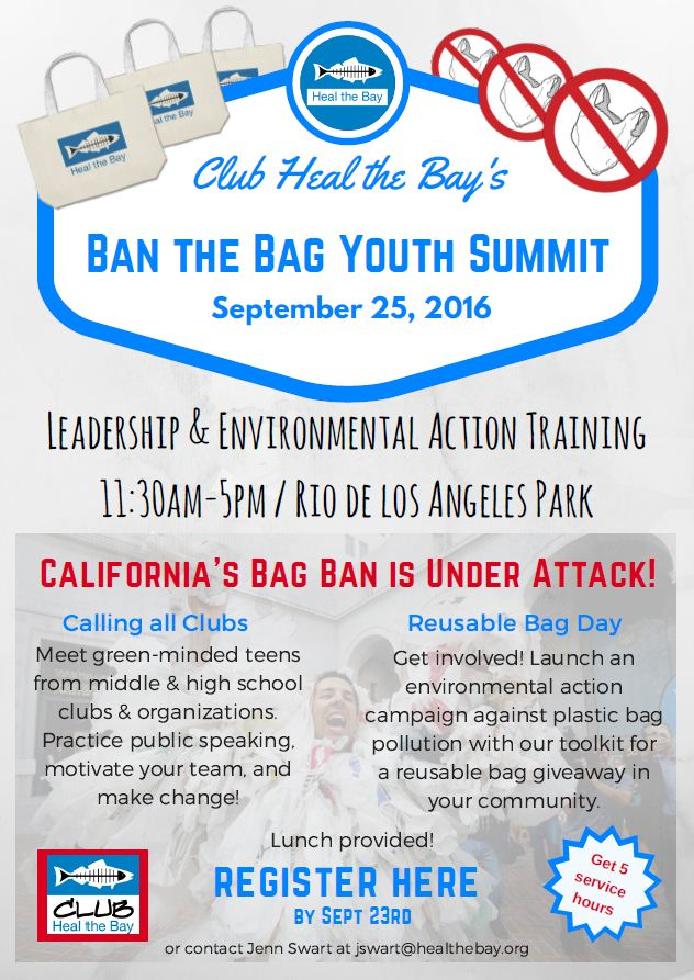Ban the Bag Youth Summit- Club Flyer