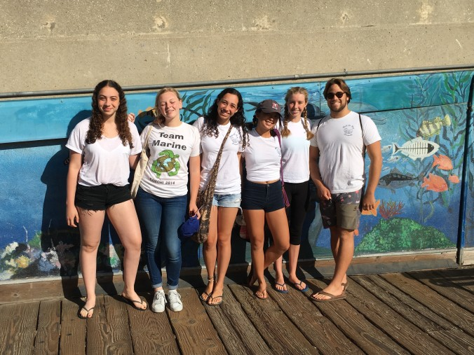 Santa Monica High School's Heal the Bay Club hits the pier on Coastal Cleanup Day