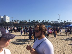 Hundreds of people came to Santa Monica Pier to help clean