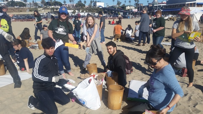 Over 1,500 pieces of trash were collected in just 15 minutes!