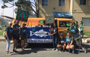 Leuzinger's Heal the Bay Club marched in the Hermosa Beach St. Patrick's Day Parade