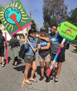 Leuzinger High School Marches for Clean Beaches